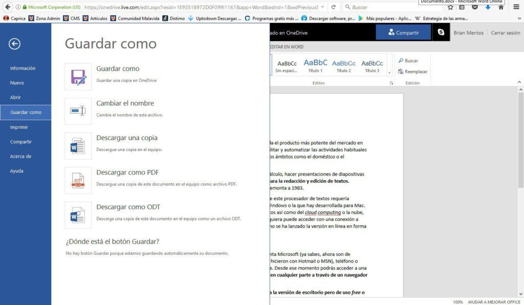 Word Microsoft Online